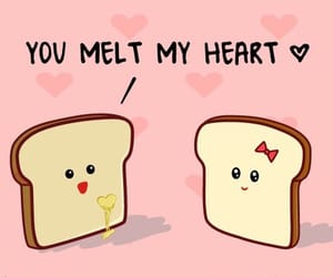 love, heart, and toast image