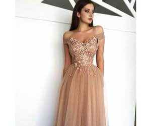 champagne, graduation dress, and dress image