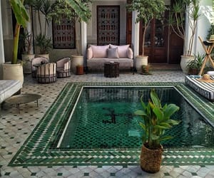 pool, home, and green image