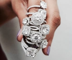 rings, diamonds, and luxury image