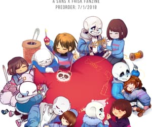 sans, collab, and frisk image