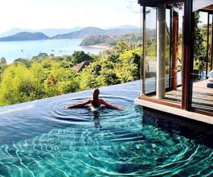 holidays, pool, and travel image