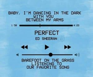 ed sheeran, perfect, and blue image