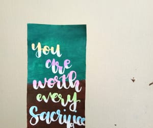 calligraphy, watercolor, and youare image