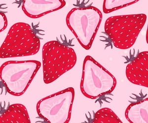 strawberry, background, and patterns image
