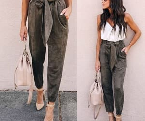 dressy pants, bow pants, and tie pants image