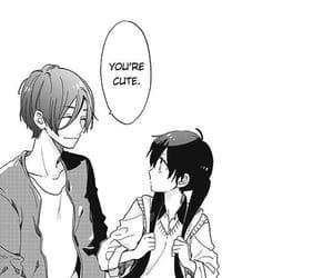 manga, couple, and short cake cake image