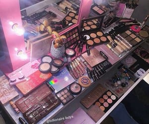 makeup, pink, and goals image