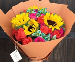 bouquet, yellow, and flowers image