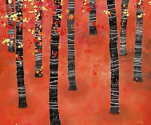 art, autumn, and forest image