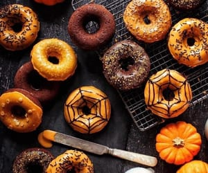 donuts, Halloween, and autumn image