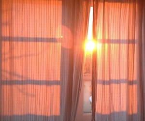 aesthetic, peach, and sun image