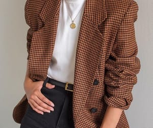 autumn, blazer, and brown image