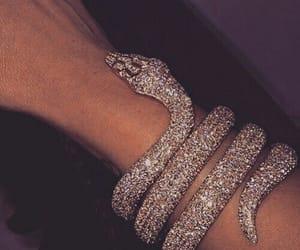 diamond, snake, and jewelry image