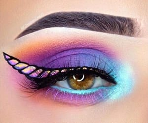 unicorn, beauty, and makeup image