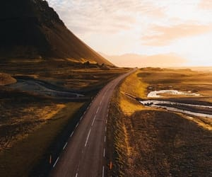 iceland, road, and nature image