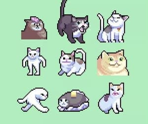 animals, cats, and pixel art image
