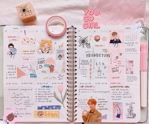 art, journal, and pink image