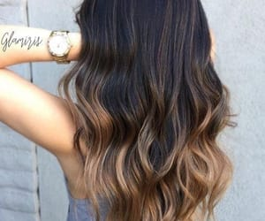 ombre, blonde, and brown image