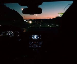 Road Trip, late night, and sunset image
