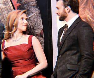captain america, chris evans, and Scarlett Johansson image