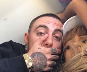 couple, mac miller, and selfie image