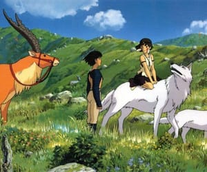 anime, princess mononoke, and studio ghibli image
