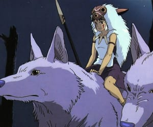 anime and princess mononoke image