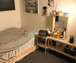 bed, teen room, and lights image
