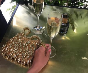 champagne and girl image