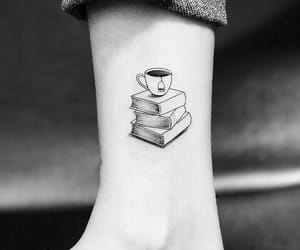 tattoo, books, and alternative image