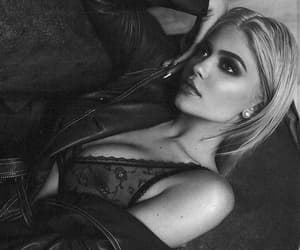 beauty, black and white, and blonde image