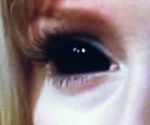 black eyes, eye, and vintage image