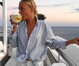 fashion, boat, and drinks image