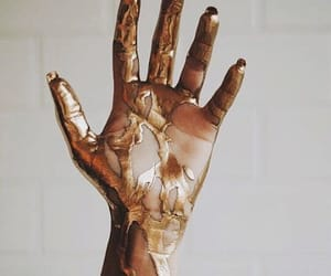 gold, hand, and aesthetic image
