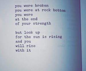 broken, rise, and strenght image