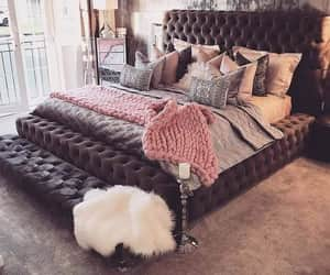 bed, chic, and room decoration image