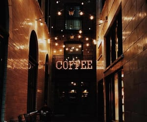 advertisement, coffee, and sign image