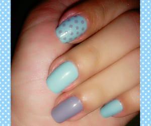 dots, mint, and nail art image