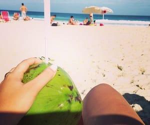 mar, praia, and céu image