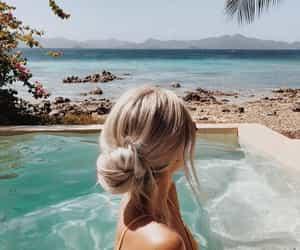 beach, paisagem, and girl image