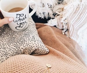 coffee, girl, and cozy image