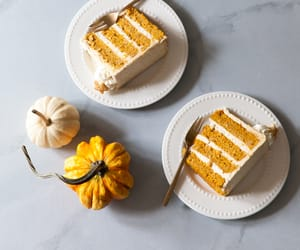 autumn, cake, and pumpkins image
