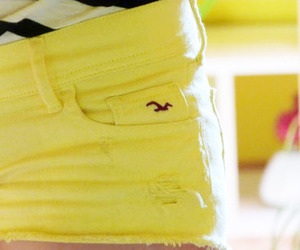 hollister, shorts, and yellow image