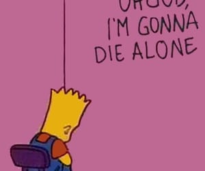simpsons, bart, and pink image