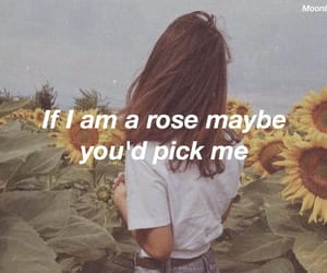 girl, quotes, and sunflowers image