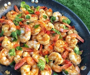 food, grill, and seafood image