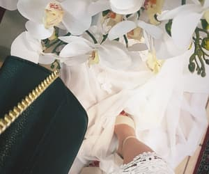 bags, flowrs, and high heels image