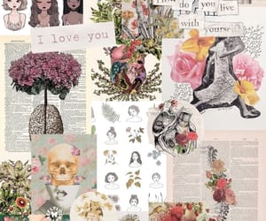 flowers, girl, and wallpaper image