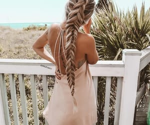 braid, hairstyle, and long hair image